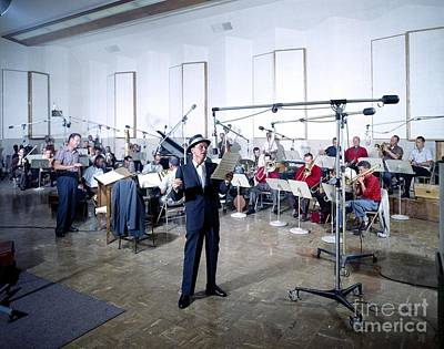 Frank Sinatra Photograph - Frank Sinatra - Capitol Records Recording Studio #2 by The Titanic Project