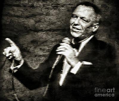 Frank Sinatra -  Print by Ian Gledhill
