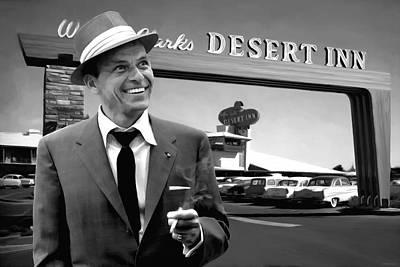 Frank Sinatra In Las Vegas Original by Gabriel T Toro