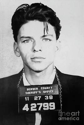 Celebrities Photograph - Frank Sinatra Mugshot by Jon Neidert