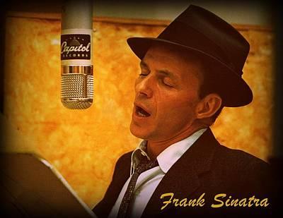 Frank Sinatra Digital Art - Frank Sinatra by Rocio Baquedano