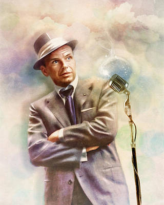 Digital Art - Frank Sinatra - The Voice by Darlanne
