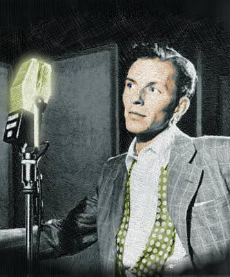Golf Mixed Media - Frank Sinatra by Tony Rubino