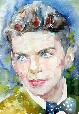 Frank Sinatra - Watercolor Portrait.8 Original by Fabrizio Cassetta