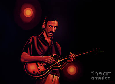 Rock Star Art Painting - Frank Zappa Painting by Paul Meijering