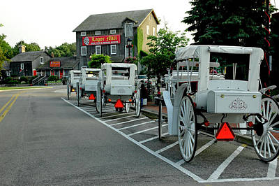 Horse Photograph - Frankenmuth Michigan Carriages At The Mill by LeeAnn McLaneGoetz McLaneGoetzStudioLLCcom