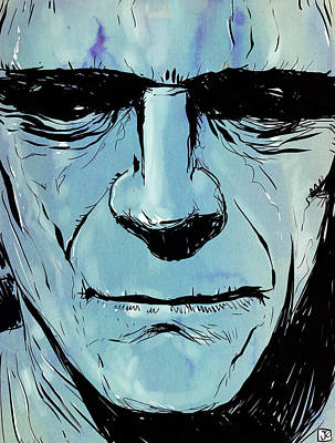 Monsters Drawing - Frankenstein by Giuseppe Cristiano