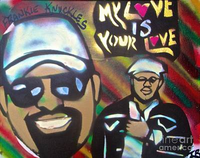Conscious Painting - Frankie Knuckles #2 by Tony B Conscious