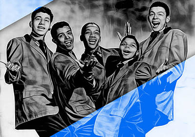 Frankie Lymon And The Teenagers Print by Marvin Blaine