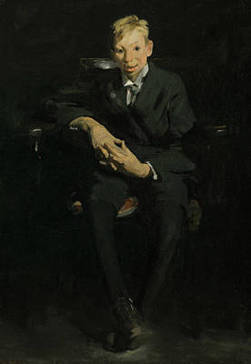 George The Painter Painting - Frankie, The Organ Boy by George Bellows