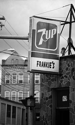 7up Sign Photograph - Binghampton New York - Frankie's Tavern by Frank Romeo