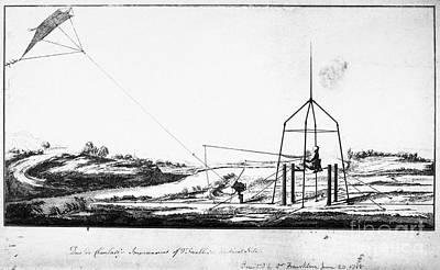 Franklin: Kite, 1788 Print by Granger