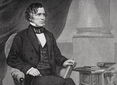 Franklin Drawing - Franklin Pierce 1804 To 1869. 14th by Vintage Design Pics