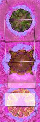 Merging Painting - Frapping Existence Flowers  Id 16165-194516-93311 by S Lurk