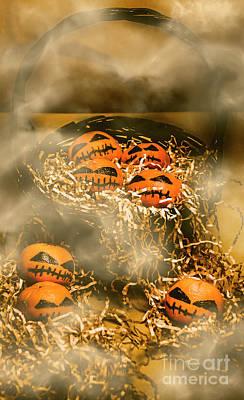 Jack-o-lantern Photograph - Freaky Halloween Fruits by Jorgo Photography - Wall Art Gallery
