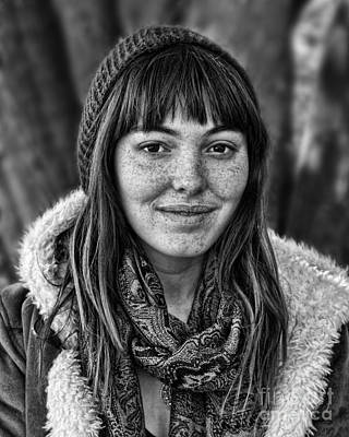 Face Photograph - Freckle Faced Beauty Smile  by Jim Fitzpatrick