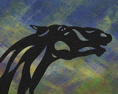 Horse Mixed Media - Fred - Abstract Horse by Manuel Sueess