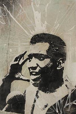 Panther Mixed Media - Fred Hampton by Dustin Spagnola