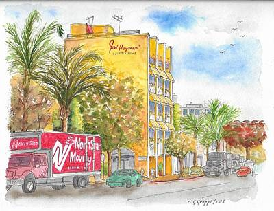 Beverly Hills Painting - Fred Hayman Building, Cannon Dr And Clifton, Beverly Hills, Ca by Carlos G Groppa