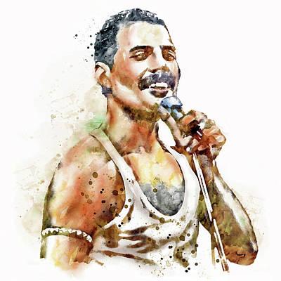 80 Digital Art - Freddie Mercury by Marian Voicu
