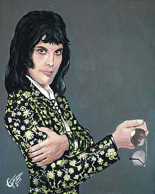 Freddie Mercury Print by Tom Carlton