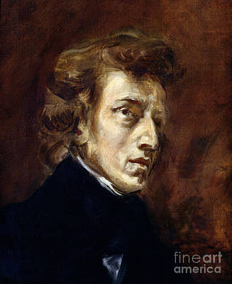 Frederic Chopin Print by Eugene Delacroix
