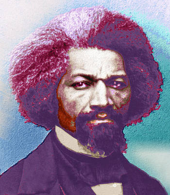 Frederick Douglass Painting In Color Pop Art Print by Tony Rubino