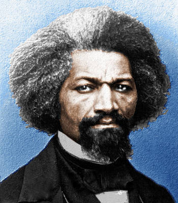 Frederick Douglass Painting In Color  Print by Tony Rubino