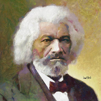 Frederick Douglass Print by Wayne Pascall