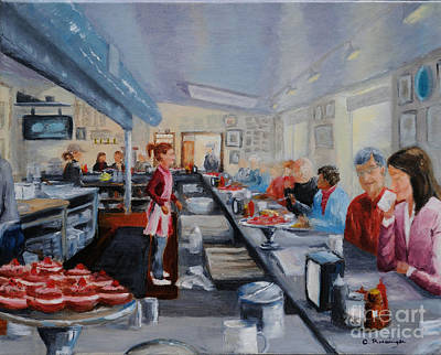 Fred's Breakfast Of New Hope Print by Cindy Roesinger