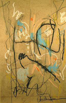 Abstract Expressionism Drawing - Free Marks To Imagine From by Charlie Spear