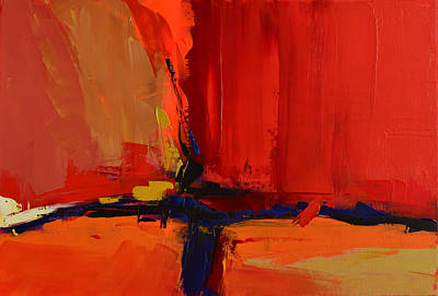 Red Abstract Painting - Free Mind - Art By Elise Palmigiani by Elise Palmigiani