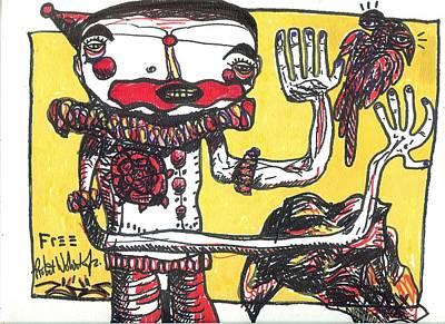 Folk Art Mixed Media - Free by Robert Wolverton Jr