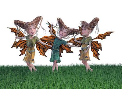 Elf Digital Art - Free Spirit Friends by Betsy Knapp