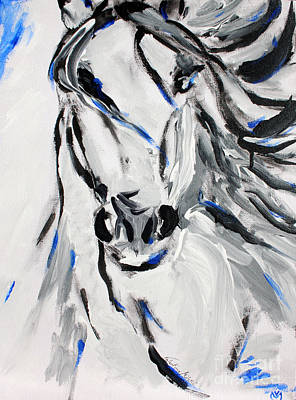 Free Spirit Horse - Abstract Horse Art By Valentina Miletic Print by Valentina Miletic