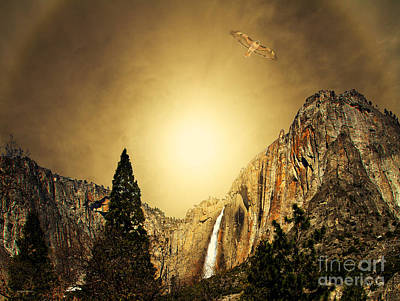 Yosemite National Park Mixed Media - Free To Soar The Boundless Sky by Wingsdomain Art and Photography