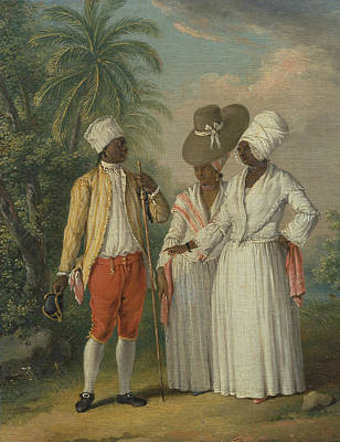 Free West Indian Dominicans Print by Agostino Brunias