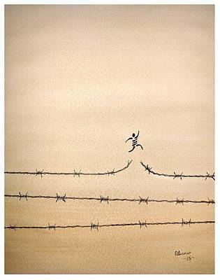 Freedom Print by Edwin Alverio