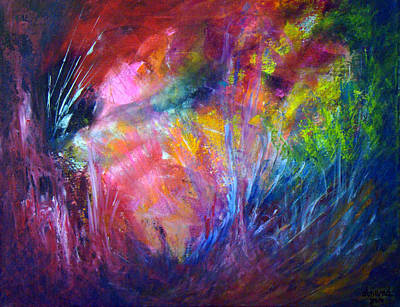 Vivid Colour Painting - Freedom Of The Dragon Fly by Davina Nicholas