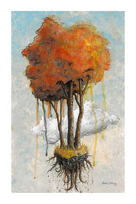 Tree Roots Painting - Freedom by Richardson Comly