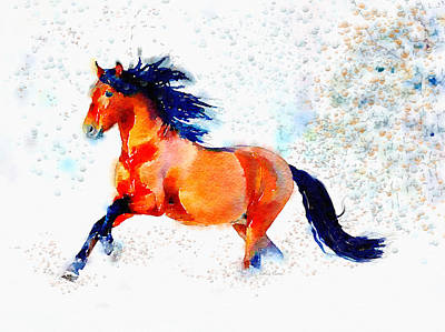 Freedom Runner Print by Angela A Stanton