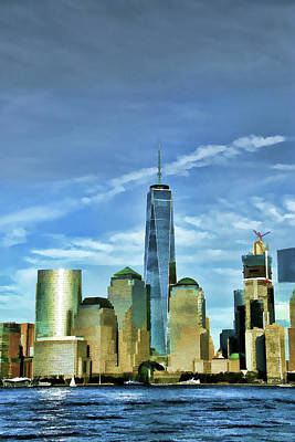 Freedom Tower - Photopainting Print by Allen Beatty