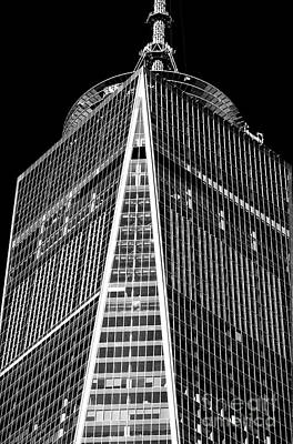 Freedom Tower Windows Print by John Rizzuto