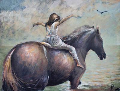 Black Bird.flying Art Painting - Freedom by Vali Irina Ciobanu