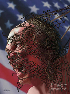 Digital Art - Freedom's Anger Unleashed by Joseph Juvenal