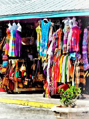 Dresses Photograph - Freeport, Bahamas - Shopping At Port Lucaya Marketplace by Susan Savad