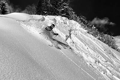 Skiing Action Photograph - Freeride by Marcel Rebro