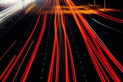 Freeway Lights Print by Garry Gay