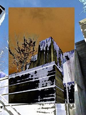 Urban Canyon Digital Art - Freeway Park 7 by Tim Allen