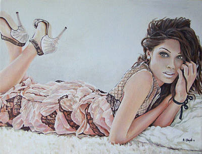 Pinto Painting - Freida Pinto by Andy Lloyd